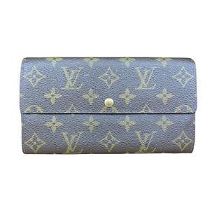 LV3184 LOUIS VUITTON Vintage Monogram Canvas Leather Sarah Long Envelope Wallet