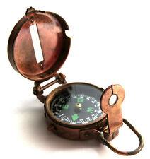 Soldiers Military Thumb Compass Vintage Brass WW2 1940 Navigation World War II