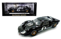 1966 FORD GT40 MKII #2  24HRS LeMANS 1/18 Black Diecast Model by Shelby 408BK