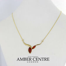 Italian Made Elegant Baltic Amber Necklace in 9ct Gold-GN0062 RRP£360!!!