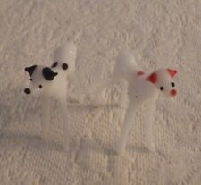 """Miniature Red Spotted & Black Spotted Dogs Dog Blown Glass Decoration 1.5"""""""