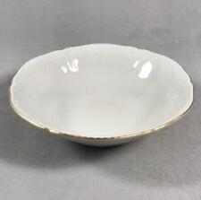 "PV03379 Ivory Rosenthal Sanssouci GOLD BAND 5 7/8"" Fruit / Dessert Bowl"