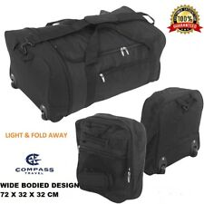 Extra Large Fold Away Wheeled Holdall Luggage Travel Sports Weekend Duffel Bag