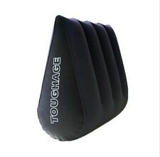 Inflatable positioner wedge for bedroom.  Sex wedge