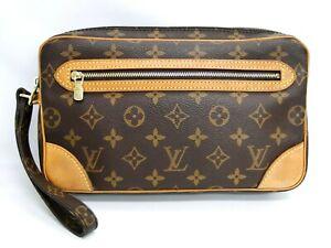 Auth Louis Vuitton Clutch Bag Pouch Marly Dragonne M51825 Monogram 41180255400 K