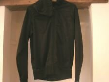 GIO-GOI Black Polyester UK Size Small Zip Up Hoodie Jacket Embossed Logo
