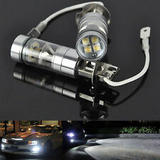 2x H3 LED Fog Light 100W Super Bright CREE Projector Car Driving DRL Bulb White