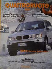 Quattroruote 544 2001 - BMW X5 un lusso - Peugeot 206 CC -   [Q35]