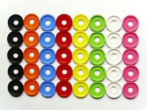 Einkaufswagenchips Wertmarken Pfandmarken mit Bohrung 8 Farben versch. Mengen
