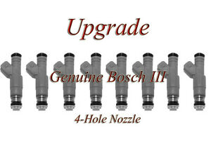 88-91 FORD 7.5 (8)  BOSCH III UPGRADE FUEL INJECTOR SET 4-HOLE NOZZLE