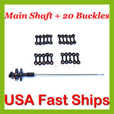 SYMA Parts Main Shaft & 20x Connect Buckles S107G-13 S107G-04 S107-13 S107-04
