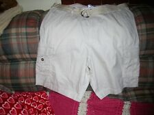 Men's Bleu Ice BEIGE/OFF WHITE Cargo Shorts W/Belt Size 38 NEW