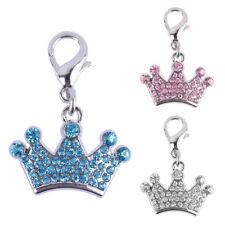HK- Rhinestone Crown Pet Dog Cat Collar Pendant Necklace Charm Jewelry Dulcet