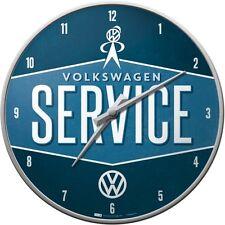VW Service - Wanduhr Original Volkswagen Uhr Retro Werkstatt Shop Deko Golf Polo
