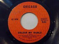 Chicago Colour My World / Beginnings 45 1971 Columbia Vinyl Record