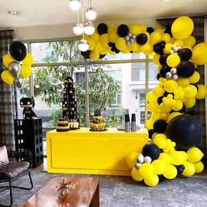 Bold Yellow Black Bee Balloon Arch Kit Garland Birthday Wedding Party Decoration