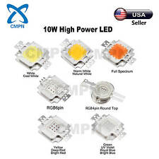 10W High Power COB LED Chip SMD White UV Red Blue Green RGB Light Beads Buld USA