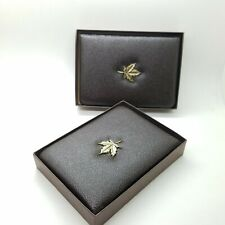 1981 &1982 Royal Canadian Mint $100 Gold Coin Empty Brown Leather Boxes COA