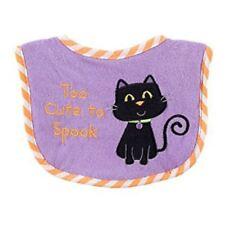 New Halloween Baby Feeding Bib First Halloween Too Cute to Spook Cat 0-6 Months