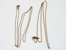 """Set 2 Solid 14K 585 Rose Yellow Gold Chains Necklace 20"""" 24"""""""