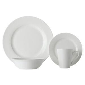 16pc Maxwell & Williams Cosmopolitan Rim Porcelain Dinner Set w/Bowl/Mugs/Plates