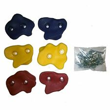 Textured Rock Holds Colour Climbing Rock Wall with Fastener Set of 6