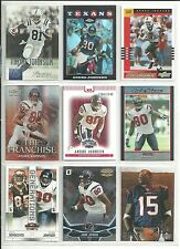 HUGE ANDRE JOHNSON 100 CARD 85 DIFFERENT LOT a TEXANS + w/ 2 RC