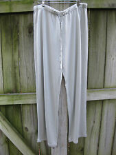 LINDA ALLARD by ELLEN TRACY SZ 4 Blue Gray Slik Blend Casual Lounge Pants NWT