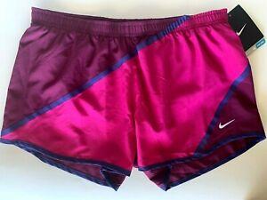 NEW NIKE [S] Womens DRI-FIT Running Shorts-Magenta/Plum 451412-678