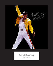 FREDDIE MERCURY #2 Signed Photo Print 10x8 Mounted Photo Print - FREE DELIVERY