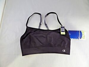 NWT Women's Champion Women's Gym Fit Compression Support Bra Size XS, Black