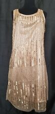 NWT $195 Stunning Gold Sequin ROMEO and JULIET Couture Party Dress Large 12 14
