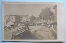 Pair RPPC Postcards Small Town Dirt Roads Eagle Hotel PO Phone Signs 1905 -08
