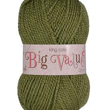 King Cole Big Value Chunky 100%25 Acrylic Knitting Wool Yarn - Complete Range