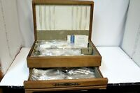 1847 Rogers Bros. Silverplate Flatware 69 Pcs. Reflection/Original Case/Sleeves