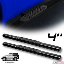 "4"" Heavyduty Oval Black Side Step Nerf Bars Boards 07-18 Jeep Wrangler 2 Door JK"