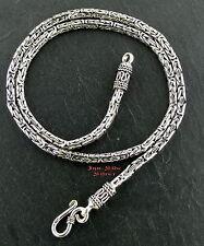 Königskette 4mm 62cm Massiv Silber 925 Halskette BALI BYZANTINE CHAIN
