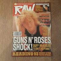 RAW MUSIC MAGAZINE NO.132 SEPT 15 - 28, 1993 - GUNS 'N' ROSES IRON MAIDEN