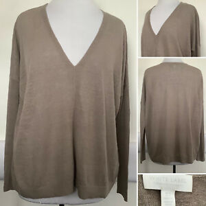 Preloved - The White Company Taupe Linen Mix Jumper - Sz 6