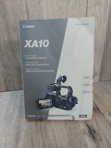 Canon XA10 HD Camcorder Video Camera Original User Instruction Guide Manual