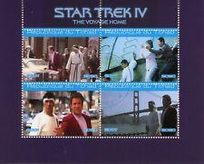 Chad Star Trek Stamps 2020 CTO Voyage Home Spock Captain Kirk Movies Film 4v M/S