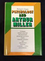 Arthur Miller Psychology Of Signed Autograph 1st Edition Hardback Book
