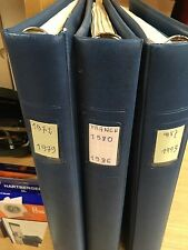LOT DE 3 CLASSEURS AVEC FEUILLES PRES IMPRIMER LINDNER OCCASION DE 1972 A 1993
