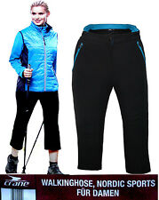 Womens Ladies Pro Stretch Active Elasticated 3/4 Cropped Shorts Trouser Pant