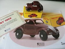 DINKY TOYS ATLAS SIMCA 5 NEUVE + FICHE DESCRIPTIVE+ CERTIFICAT D'AUTHENTICITE