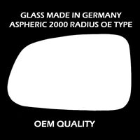 Kia Rio Wagon wing mirror Glass Silver ,LH (Passenger Side),2005 to 2010