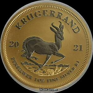 2021 South Africa Krugerrand 1 oz Silver Space Gold Edition Coin
