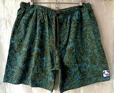 Hang Ten Gold   Aloha Board Shorts Zip Front Swim Surf Beach Trunks Size Large
