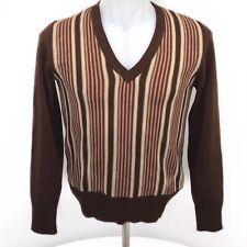 Vtg 1949 Striped Acrylic Italian Sweater Mens Small Johnny Zivoli