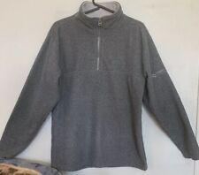 Foot Locker Ladies Grey Front Zipper Long Sleeve Sweat Shirt Sz Small